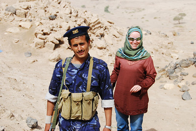 With one of the Yemeni soldiers.