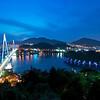 Dolsan Bridge and Yeosu Harbor