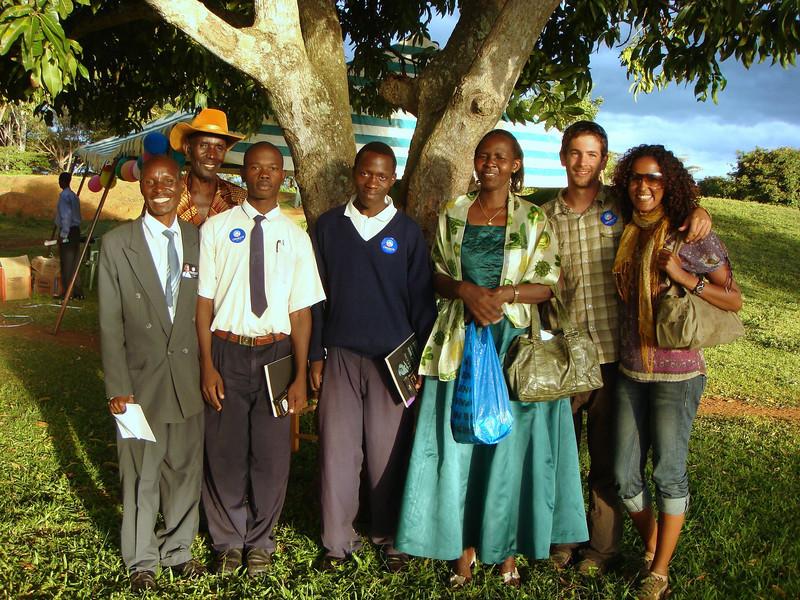 principal, vice principal, board member, volunteers, student speakers