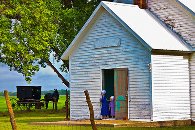 Waiting on the Others  Amish Sunday Morning Worship in Yoder, KS
