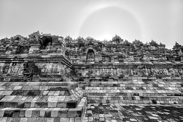 Sundog Over Borobudur