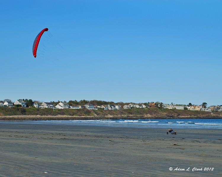 Someone beach sailing
