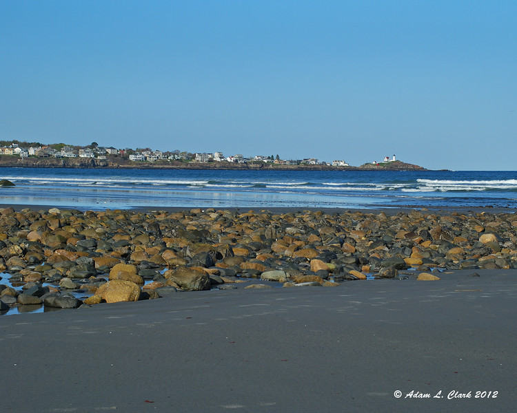 Nubble Lighthouse from Long Sands Beach