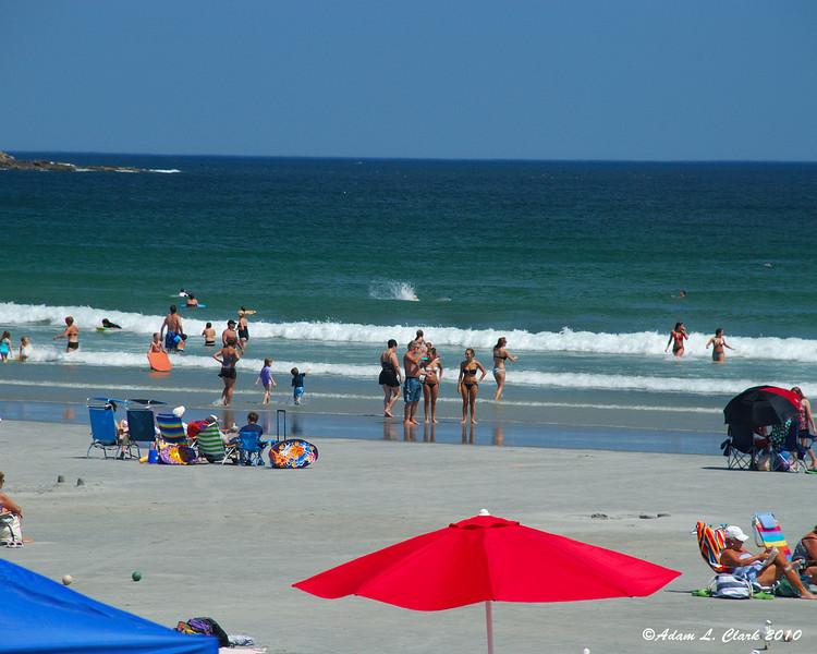 People enjoying the beach