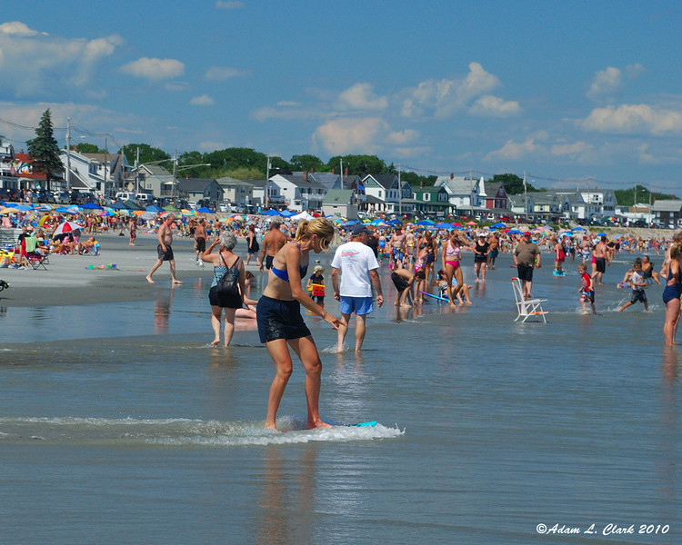 Plenty of different activies going on at the beach
