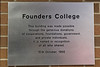 Founders College donors plaque 1965.