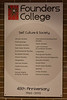 Founders College 45th anniversary poster 2010.