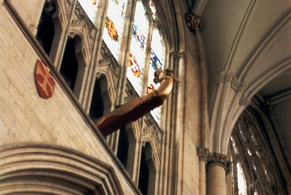 Details & architrave York Minster York England - Jun 1996