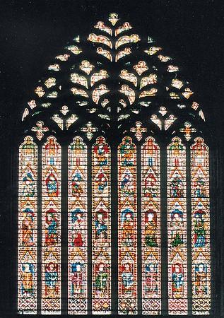West vitraux York Minster York England - Jun 1996
