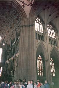 Supporting pillar York Minster York England - Jun 1996