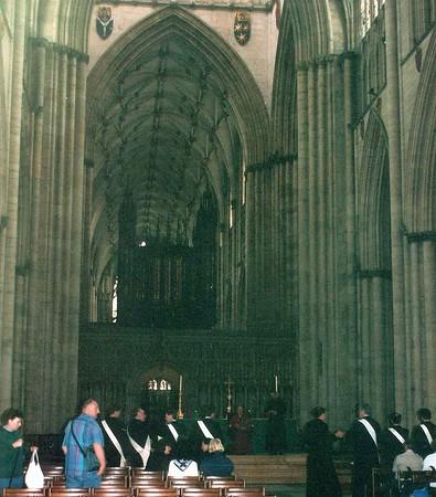 The nave York Minster York England - Jun 1996