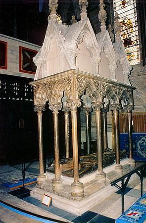 Archibishop Walter de Gray tomb - d. 1255 York Minster York England - Jun 1996