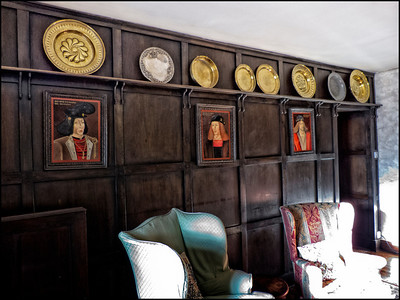 Portraits of the Scottish Kings in the upstair lounge
