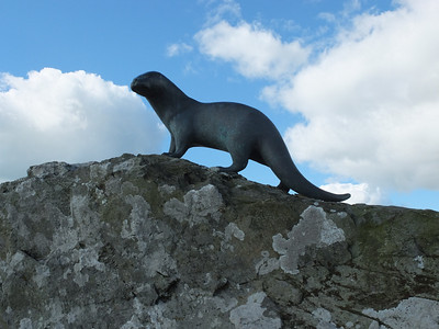 Bronze otter to commemorate Gavin Maxwell who wrote Ring of Bright Water