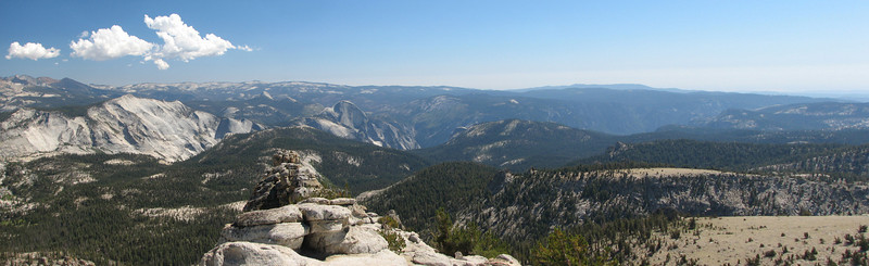 South to Yosemite Valley from Mt Hoffman