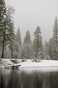 Merced River In The Mist
