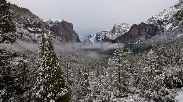 Yosemite Valley Dawn After Snowstorm