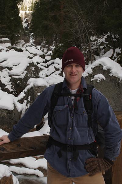 Me at the Vernal Falls Footbridge.