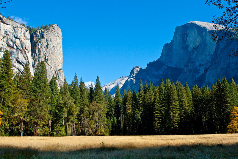 Washington Column & Half Dome from Stoneman Meadow, without the tree.