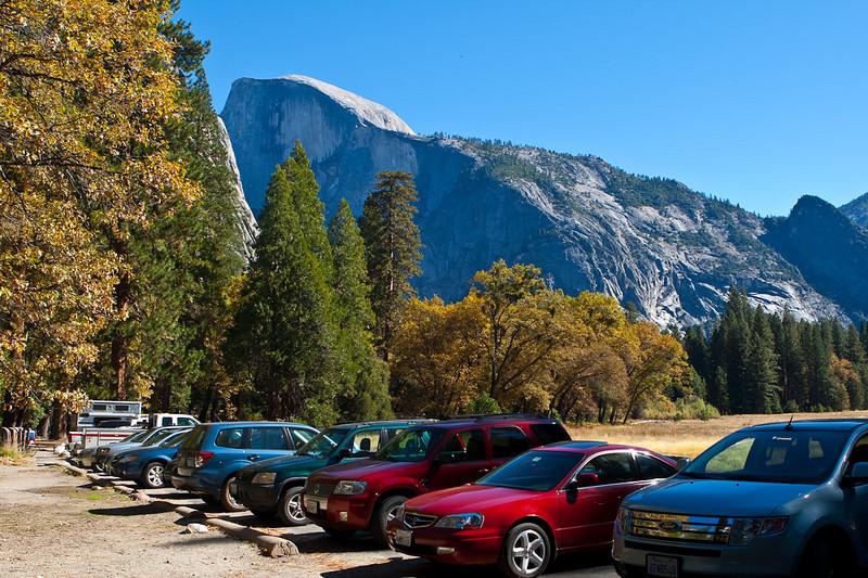 Reality check. Cars at Yosemite.