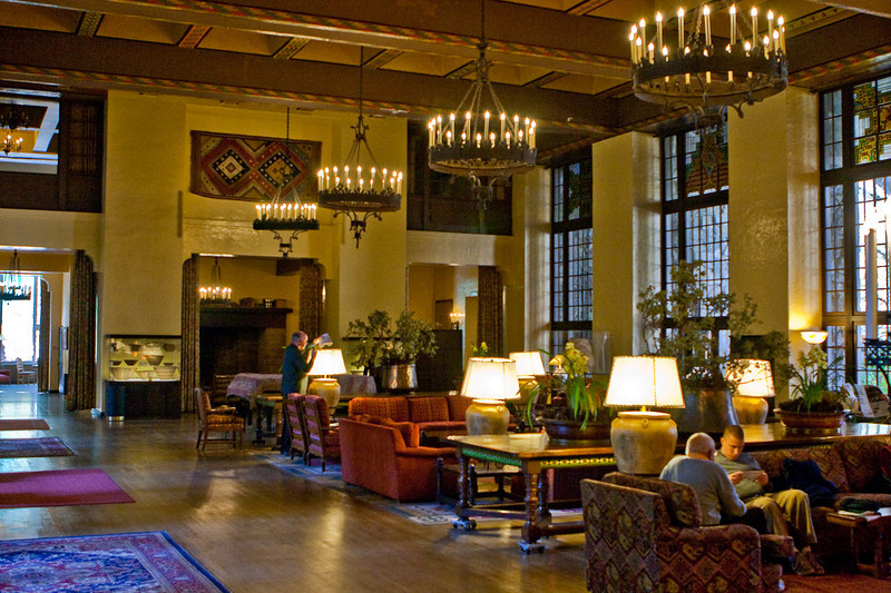 Ahawahnee Hotel lounge.