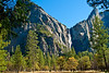 What a glorious day! Bridalveil Fall, a 620 foot drop, from across the Merced river.