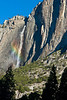 Early morning rainbow in Yosemite Falls from Cook's Meadow, between Sentinel Bridge & Yosemite Village.