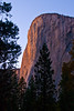 """El Cap"", always stupendous, catches the last rays of the setting sun. <br /> The 3,000 foot vertical cliff makes it one of the largest exposed monoliths in the world."
