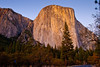 Stupendous El Capitan. <br /> A 3,000 foot vertical cliff makes it one of the largest exposed monoliths in the world. The summit is 3,245 feet above its base.