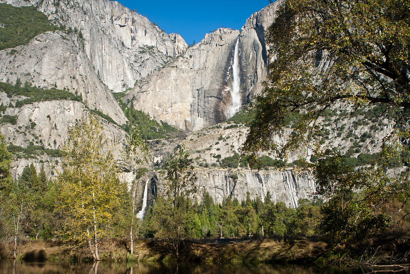 Yosemite Falls, looking across the Merced and part of Cook's Meadow.