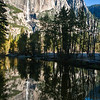 Yosemite Falls from Swinging Bridge.