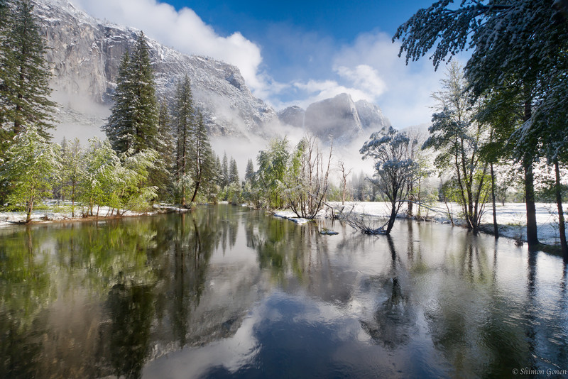 Swinging Bridge View - Yosemite