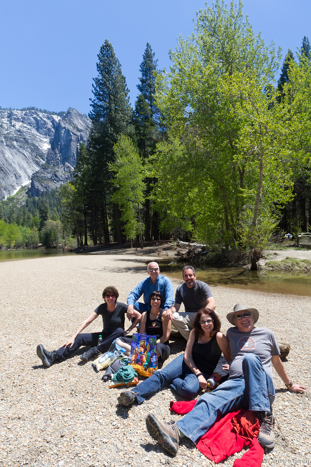 Hanging out on Cathedral Beach - Yosemite