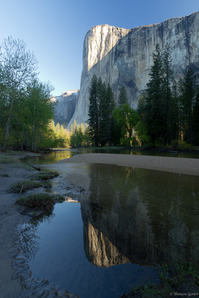 Sunrise, El Capitan at Cathedral Beach - Yosemite