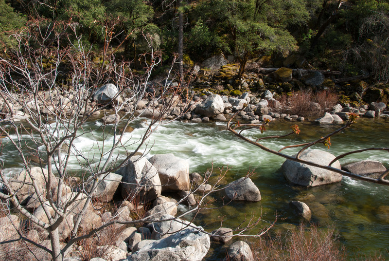 The Merced River. Right outside our lodge room