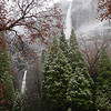 Upper (1,430 ft.) and Lower (320 ft.) Yosemite Falls. Middle falls (675 ft.) are hidden from most views.
