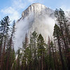 The most common view of El Capitan. On  the north side of Yosemite Valley. Elevation, 7,369 ft.; 3,600 ft. above the valley floor.
