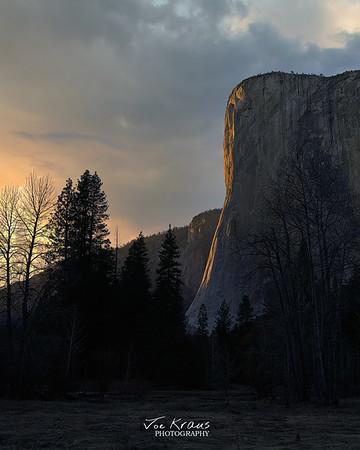 Ansel's View - El Cap at Sunset