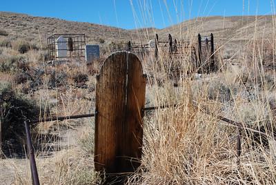 Old gravemarker.  Bodie Ghost Town-Eastern Sierras