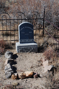 Upgrading the cemetery, new gravestone.  Bodie Ghost Town-Eastern Sierras