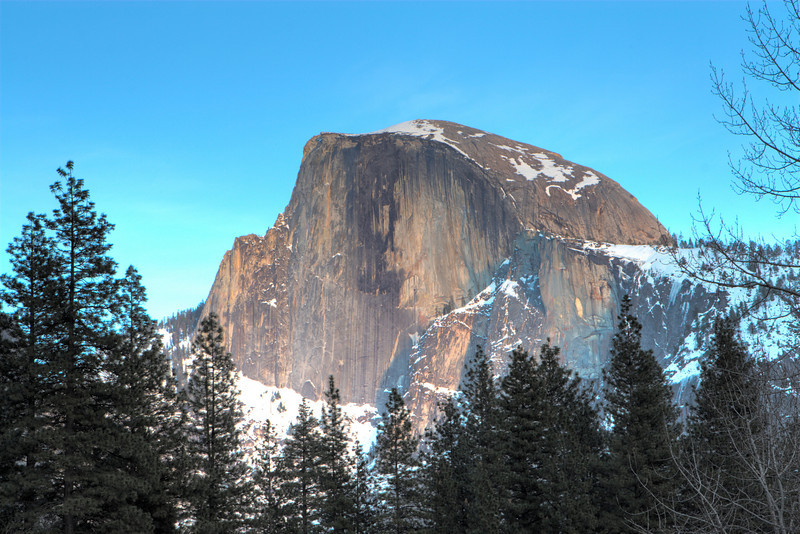 <h3>Half Dome at Sunset</h3>I just kept taking pictures as the light changed.  You can vote which version you like the best.