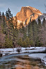 <h3>Half Dome with Sunset Color</h3>I liked the color that the mountain was taking on as Sunset approached.
