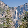 A closer view of Yosemite Falls.