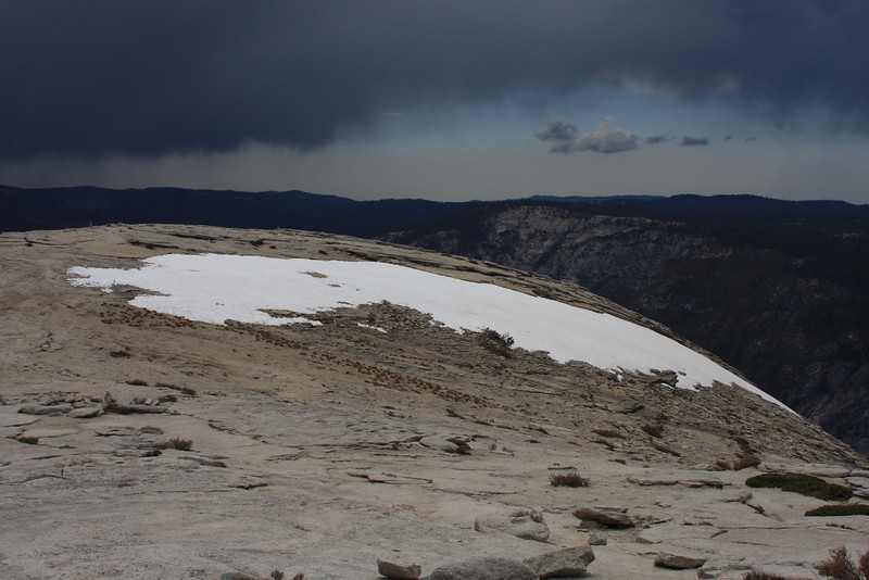 The summit of Half Dome.