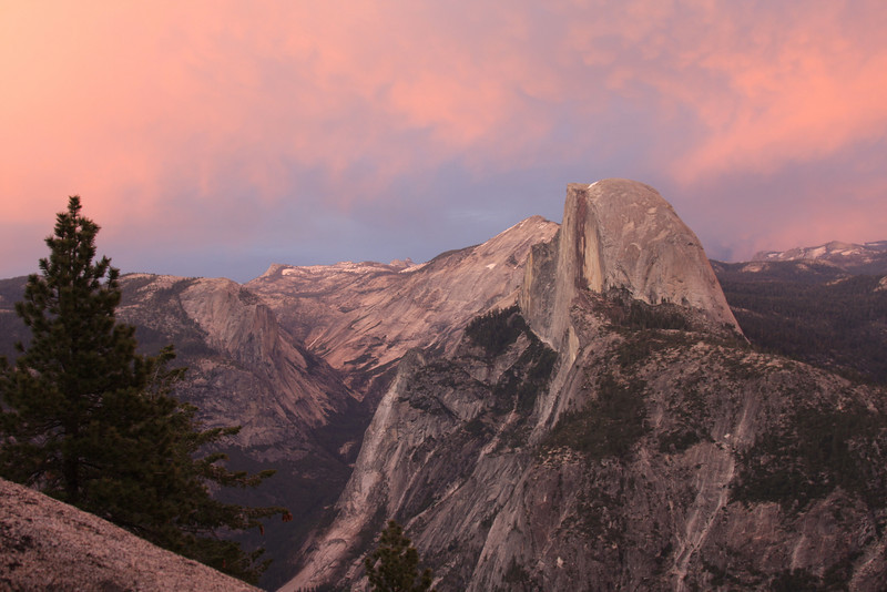 Half Dome, Cloud's Rest and the view up Tenaya Canyon from Glacier Point