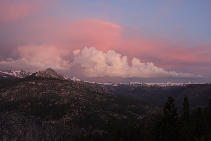 Looking east from Glacier Point