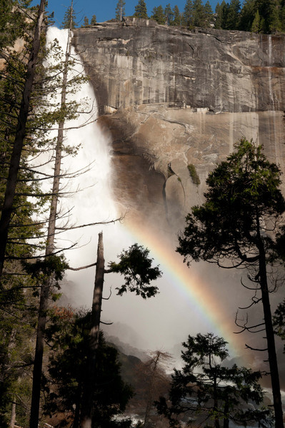 As we hiked back down, we saw this rainbow appear in front of the water fall. This picture definitely didn't do it justice, as there were lots of trees obstructing the view.
