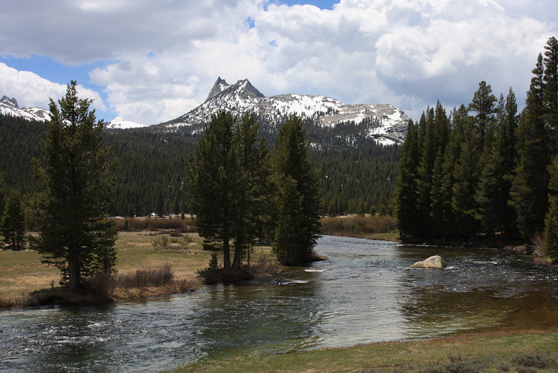 Cathedral Peak and the Tuolumne River