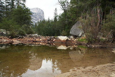 Mirror Lake, which during August, might be better named Mirror Puddle.