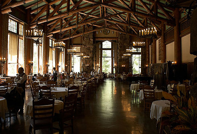 The Ahwahnee Hotel's dining room.